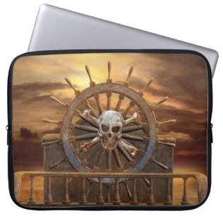 Pirate Skull Rudder Laptop Sleeve Bag Notebook Computer PC Neoprene Protection Zipper Case Cover 17 Inch