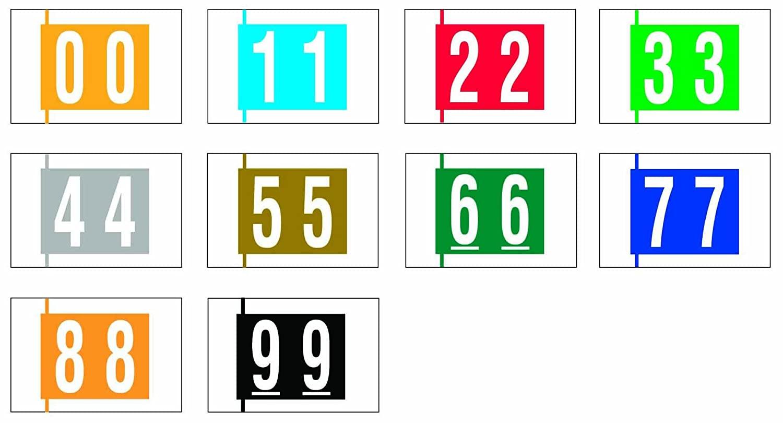 COL-R-TAB COMPATIBLE 59712391 11000 Permanent Color Code Label, Mylar, Numeric, 1 1/2