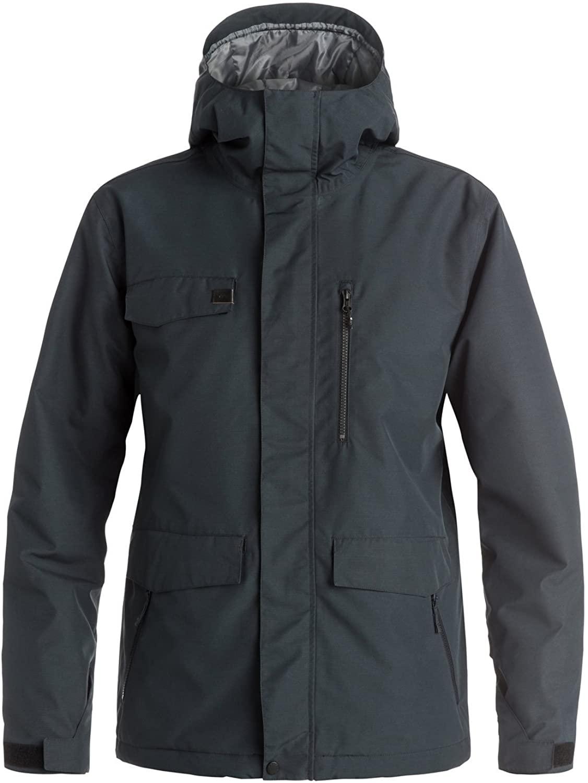 Quiksilver Snow Men's Raft Snow Jacket, Black, X-Large