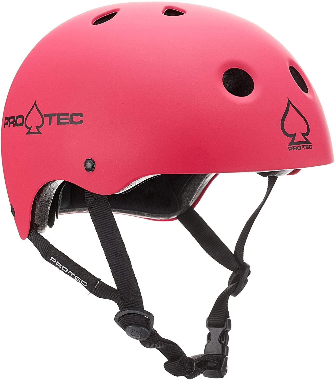 Pro-Tec Classic Certified Skate Helmet (Matte Pink, Large)