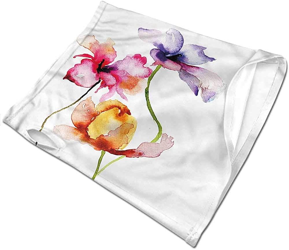 Bandana Floral,Vibrant Tones Summer Flowers Tactical Neck Tubes