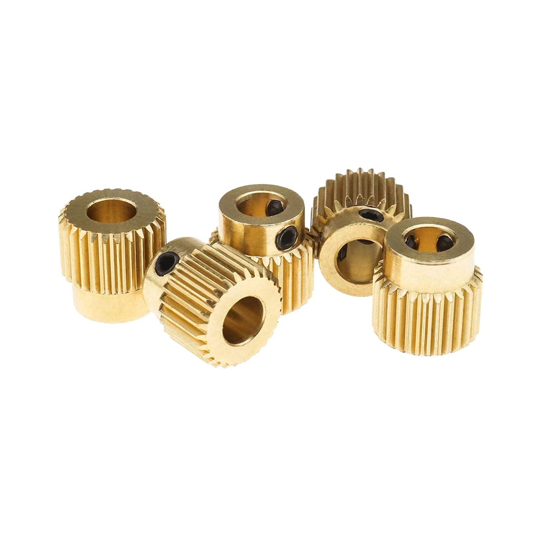 5Pcs Extruder Planetary Gear Wheel, for 3D Printer MK7 MK8-5mm ID 11mmOD Brass 26 Teeth