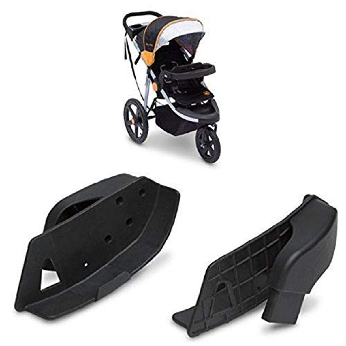 J is for Jeep Brand Adventure All-Terrain Jogging Stroller, Galaxy withChicco Keyfit 30 CarSeatAdapter