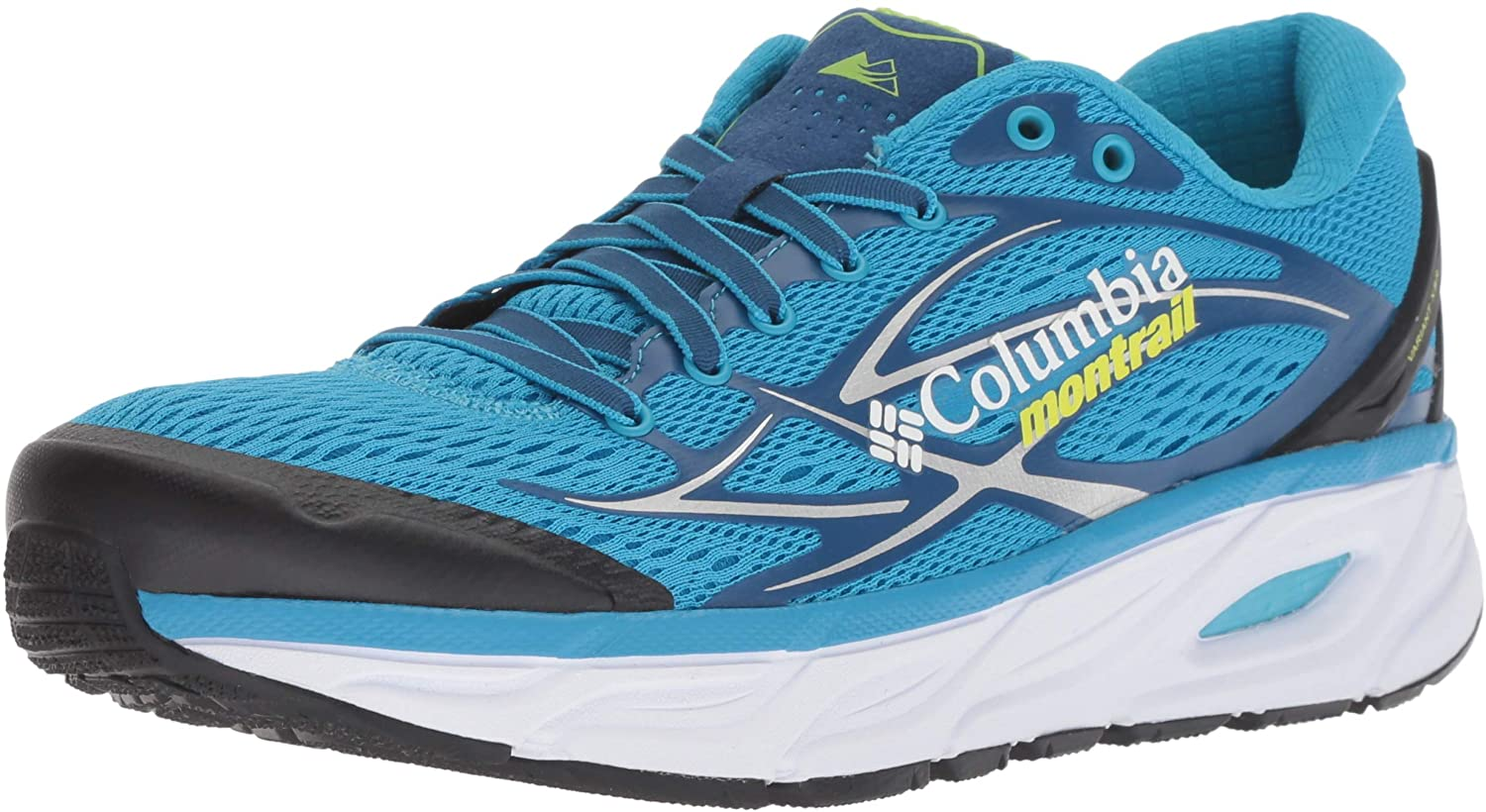 Columbia Men's Variant X.S.R. Trail Running Shoe, Blue chill, Fission, 11.5 D US