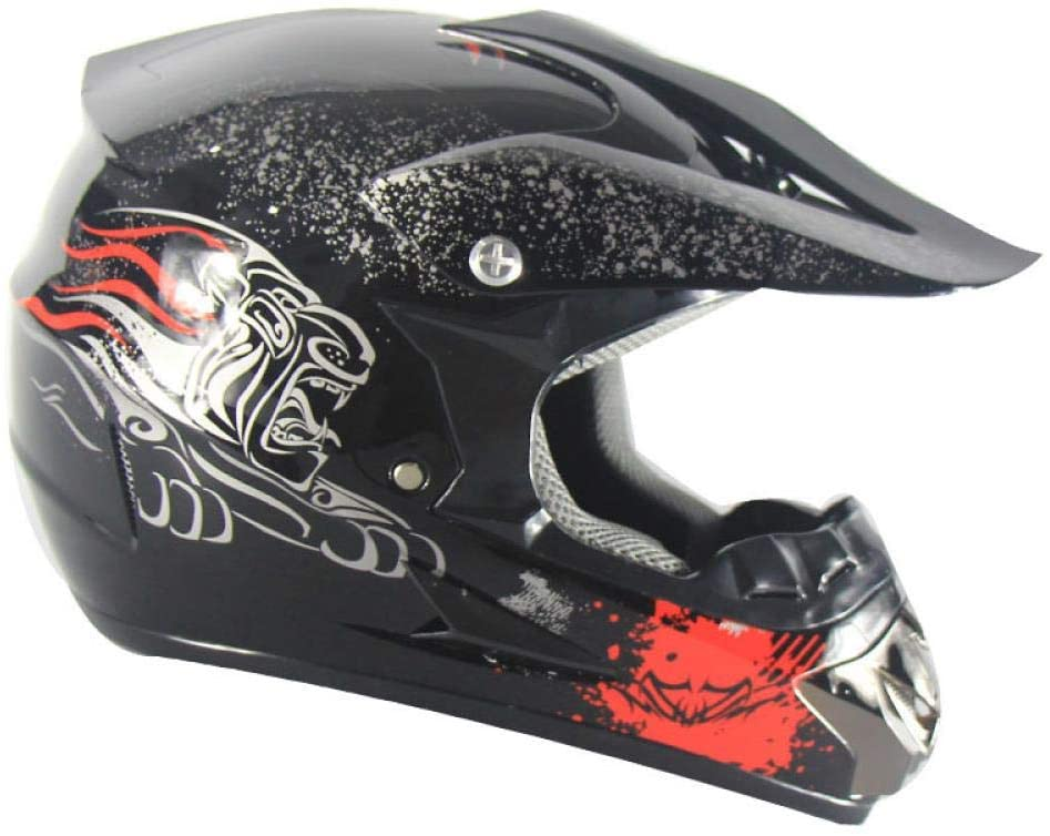 Home bathroom products Motorcycle Helmet, Off-Road Helmet Road Racing Off-Road Helmet for Outdoor Cycling, Black Floral, S