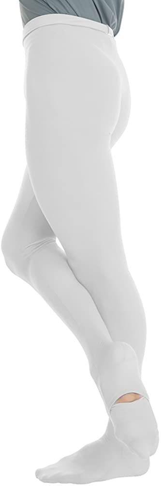 Body Wrappers Cut and Sewn Footed Dance Tights, White, 14-16