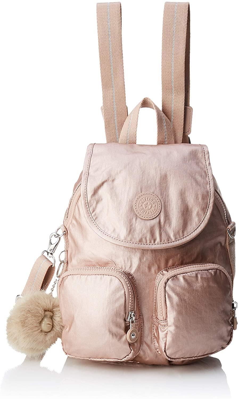 Kipling Firefly Up, Women's Backpack, Gold (Metallic Blush), 14x22x31 cm (B x H T)