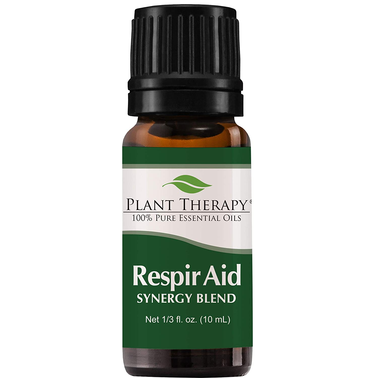 Plant Therapy Respir Aid Essential Oil - Sinus, Airway and Congestion Clearing Synergy Blend   100% Pure, Undiluted, Natural Aromatherapy, Therapeutic Grade 10 milliliter (1/3 ounce)