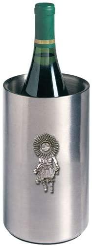 1pc, Pewter Sun Kachina Wine Chiller