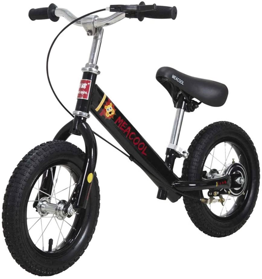 Kids' Balance Bike Children's Two-Wheeled Bicycle Balance Car Metal Frame Without Pedal Bicycle 2-6 Years Old Baby With Brakes Pneumatic Tires Outdoor Sports Exercise Balance Bicycle Lightweight Bike