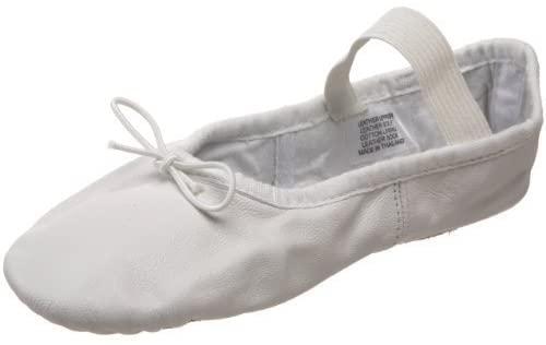 Bloch Girls Dance Dansoft Full Sole Leather Ballet Slipper/Shoe, White, 7 X-Narrow Toddler