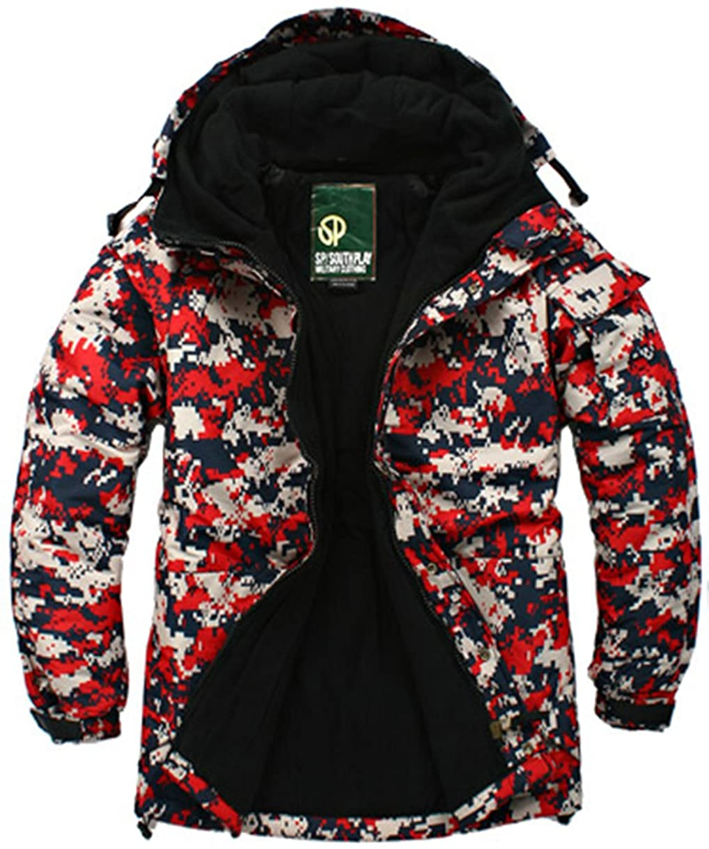 Mens Premium Waterproof Ski Snowboard Suit Wear Jacket Parka Jumper ACU