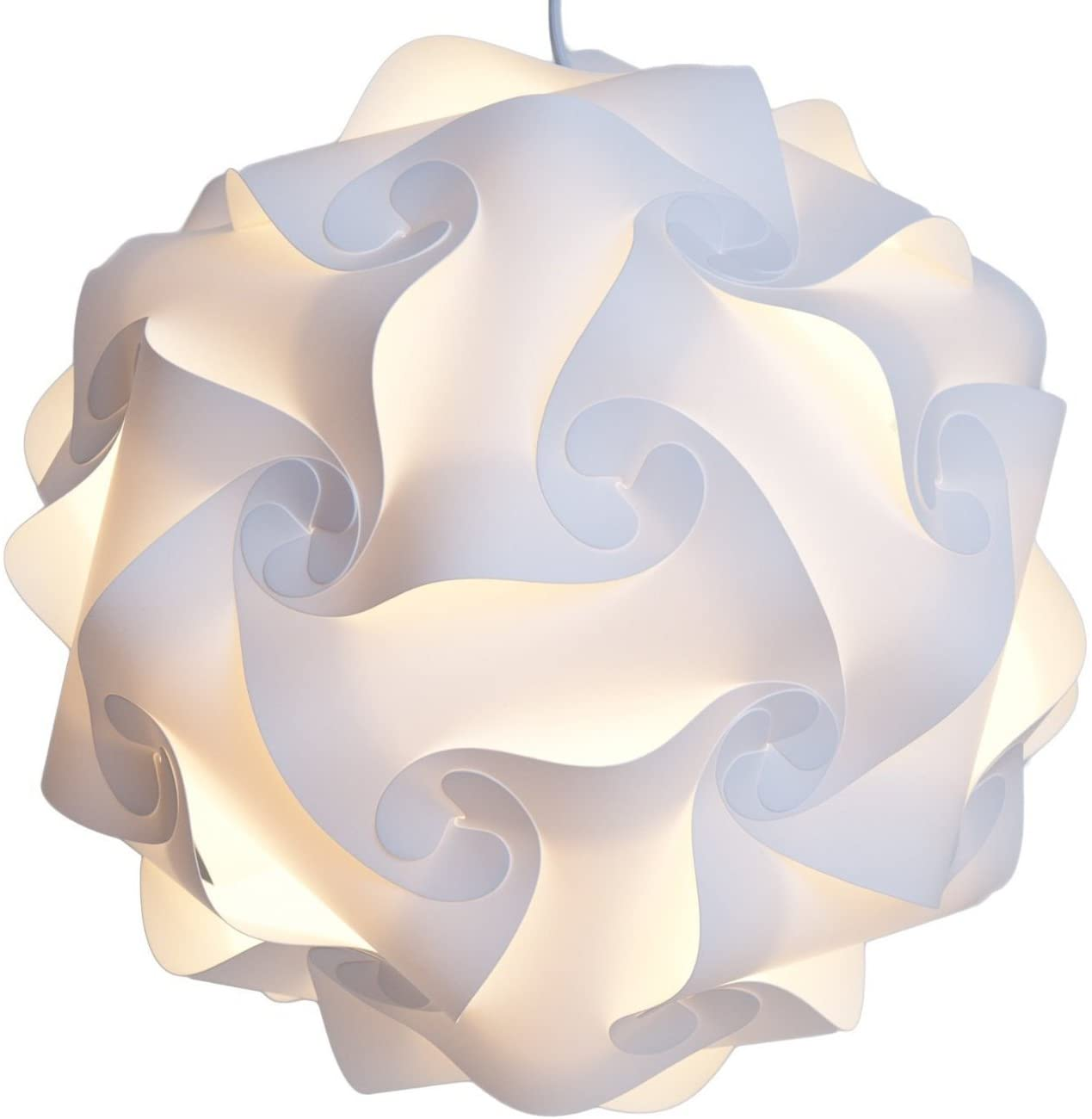 Lightingsky IQ Lamp Shade Toy Self DIY Assembled Puzzle Lights for Room Decoration (White, XL-18 inch)