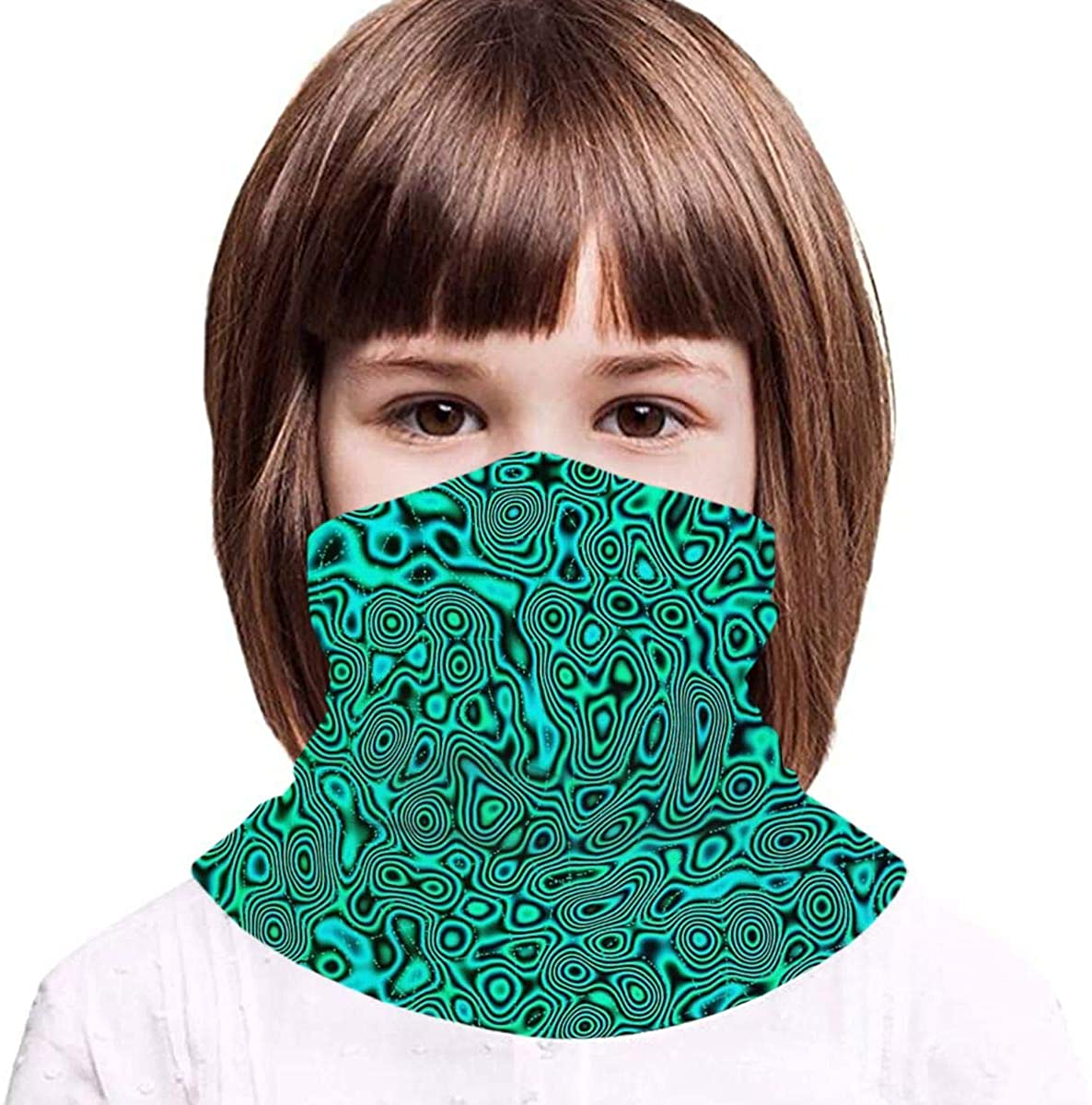 Green Trippy1 Boy Girl Seamless Face Cover Neck Gaiter Headband Teenagers Scarf Outdoors/Festivals/Sports - Gifts for Kids