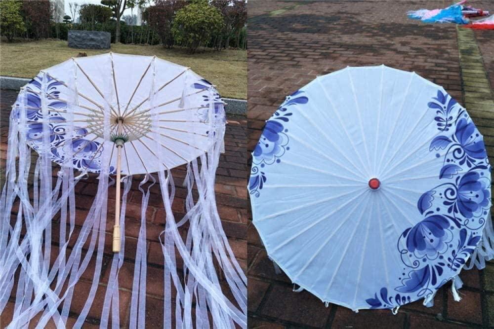 ASDF Umbrella Photography Catwalk Props Umbrella rain Belt Umbrella Ancient Wind Umbrella Tassel Umbrella 1pcs