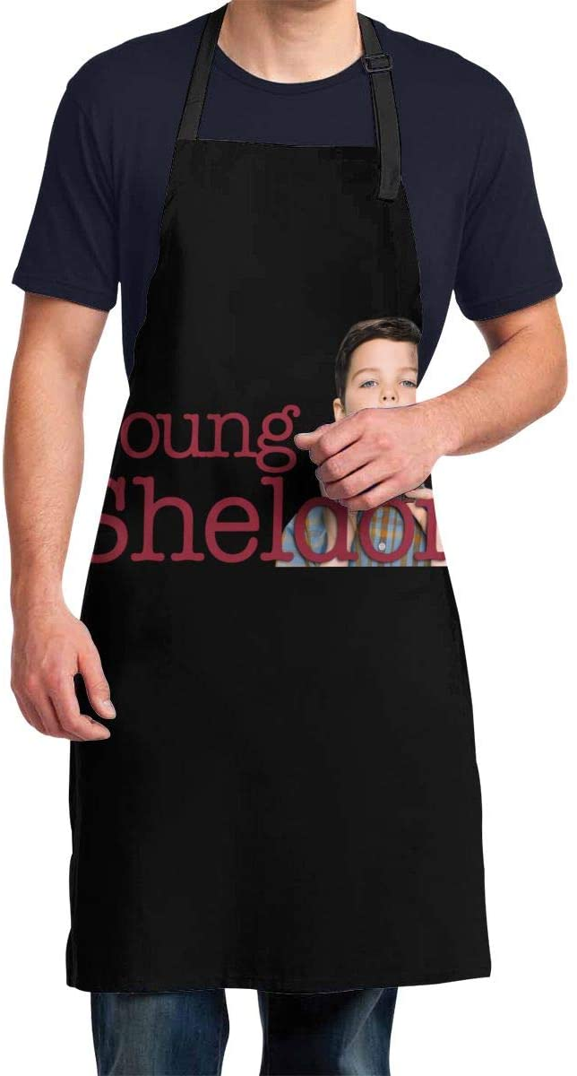 Qwertyi Young Sheldon Men's Waterproof Aprons Must Be Prepared for Cooking.