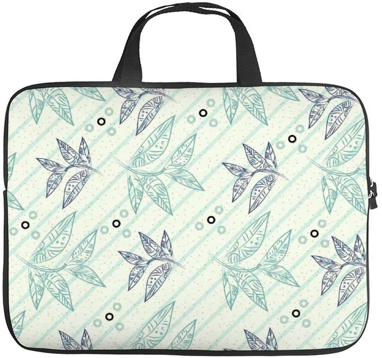 Diving Fabric,Neoprene,Sleeve Laptop Handle Bag Handbag Notebook Case Cover Tropical Pattern,Classic Portable MacBook Laptop/Ultrabooks Case Bag Cover 15 inches
