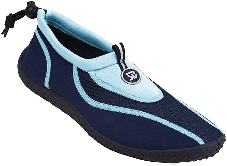 Starbay New Brand Men's Blue & Navy Athletic Water Shoes Aqua Socks Size 10