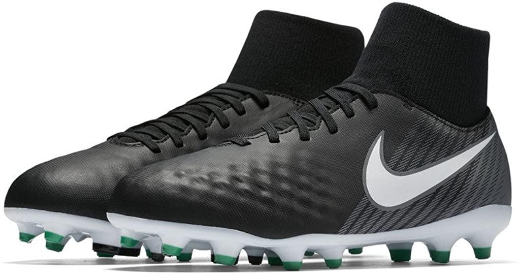 Nike JR MAGISTA ONDA II DF FG boys soccer-shoes 917776-002_1Y - BLACK/WHITE-COOL GREY-STADIUM GREEN