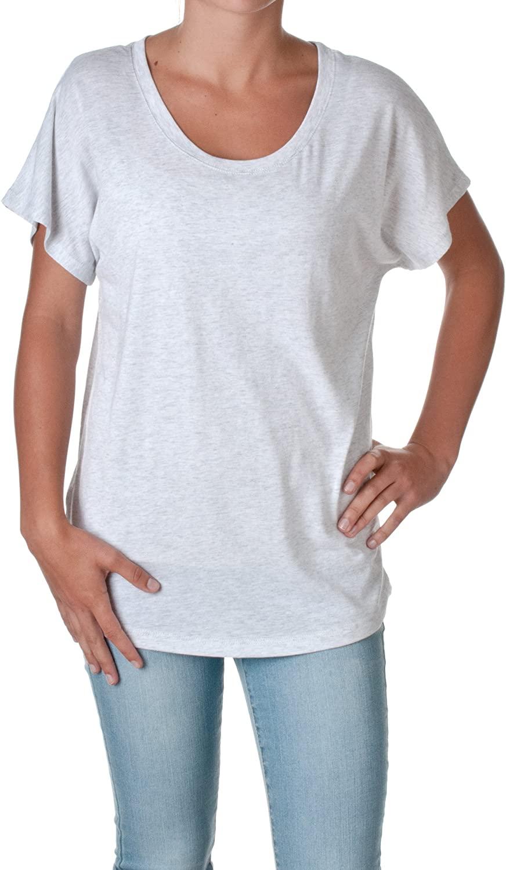 Next Level Apparel Women's Tri-Blend Dolman Jersey, Vintage White, L