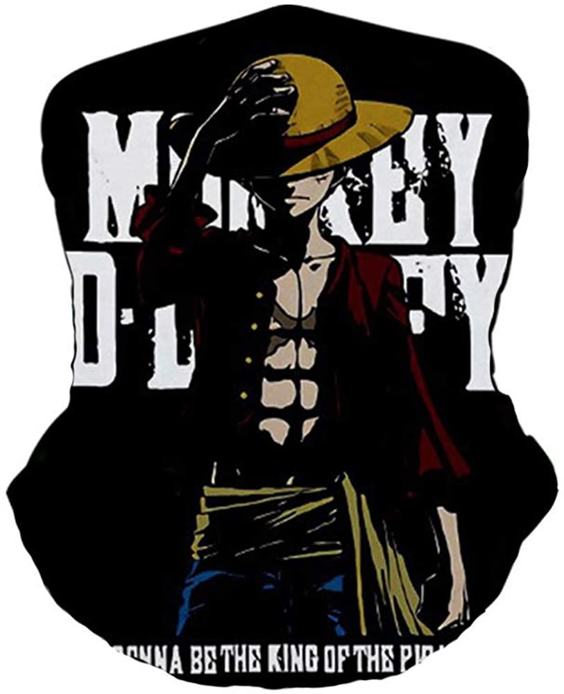 Anime One Piece Luffy Zoro Face Mask Bandana Balaclava Headband,3D Print Windproof Anti Dust for Men Women Adult Kid