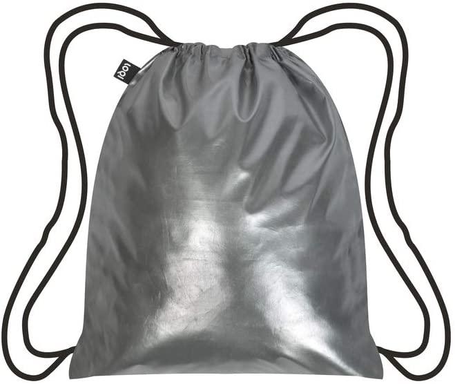 LOQI METALLIC Matt Silver Backpack