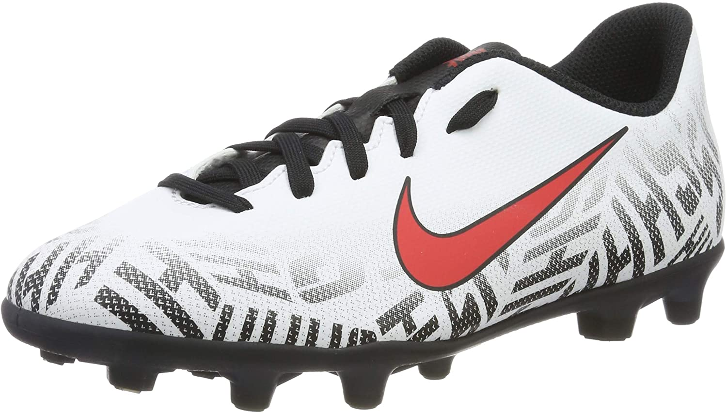 Nike Junior Vapor 12 Club GS NJR FG/MG Soccer Cleats (White/Red/Black) (1.5 M Little Kid)