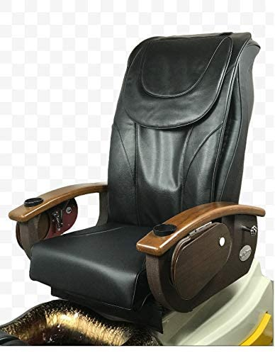 Pedicure Back Massage Seat Cover with Front Chin Black