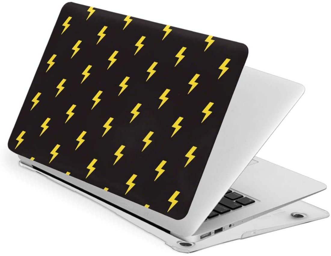 Laptop Case for MacBook Yellow Neon Lightning Bolt Laptop Computer Hard Shell Cases Cover (New Air13 / Air13 / Pro13 / Pro15)