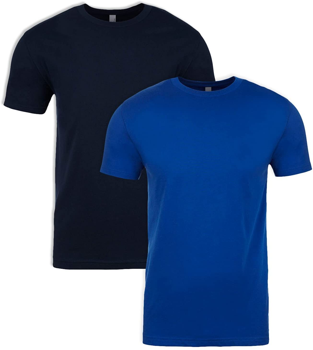 Next Level N6210 T-Shirt, Midnight + Royal (2 Pack), Large