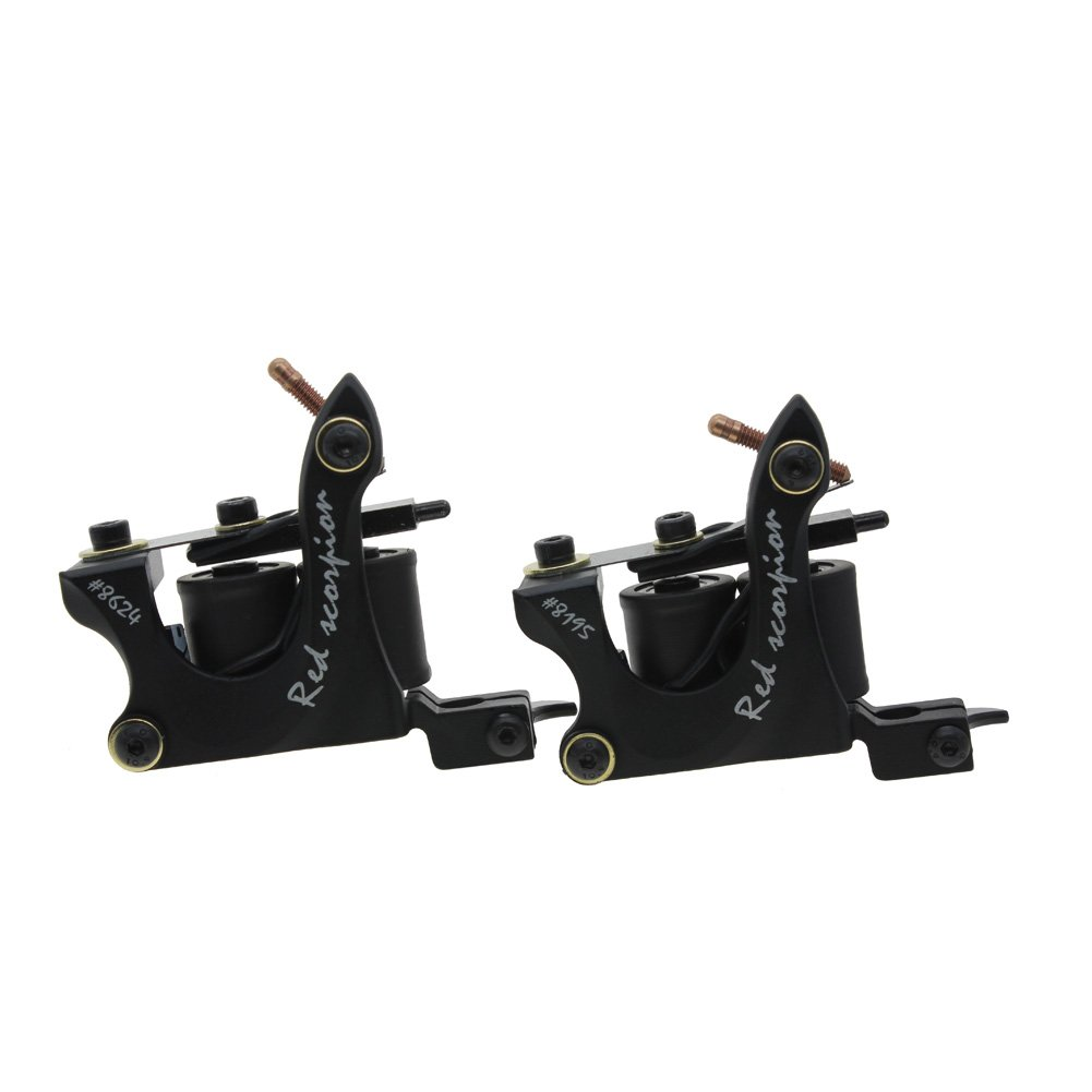 Redscorpion Coil Tattoo Machine Gun Set for Liner and Shader Alloy Frame (pack of 2)