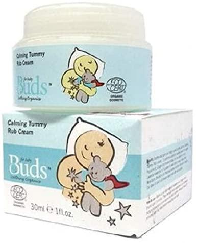 BUDS Calming Rub Cream 30g Organic Plant Oils Keeps Baby's Skin Soft and Supple.