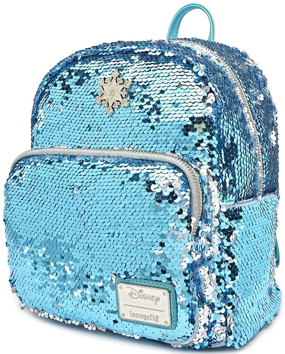 Loungefly x Disney Frozen Elsa Reversible Sequin Mini Backpack