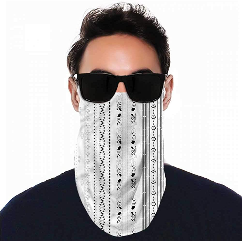 VIVIOTendance Bandana Henna,Geometric Vertical Stripe Headband Neck Gaiter