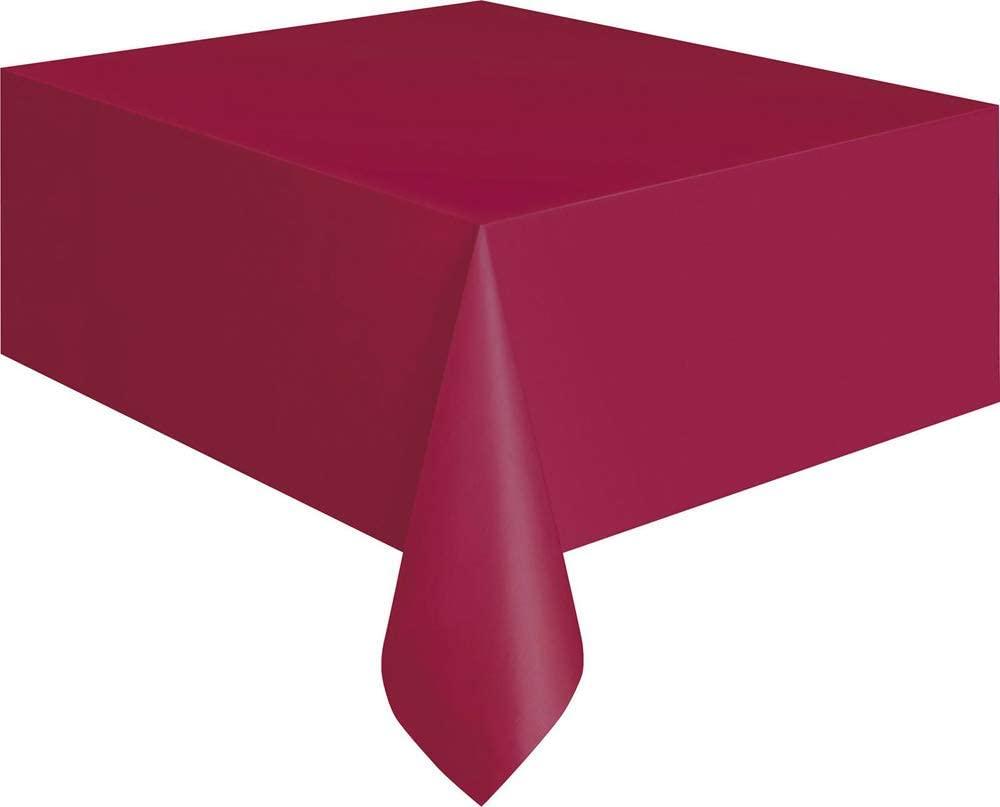 Burgundy Plastic Tablecloth, 108