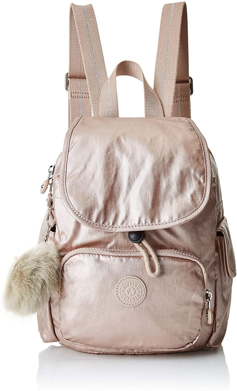 Kipling City Pack S Mini Backpack Metallic Blush