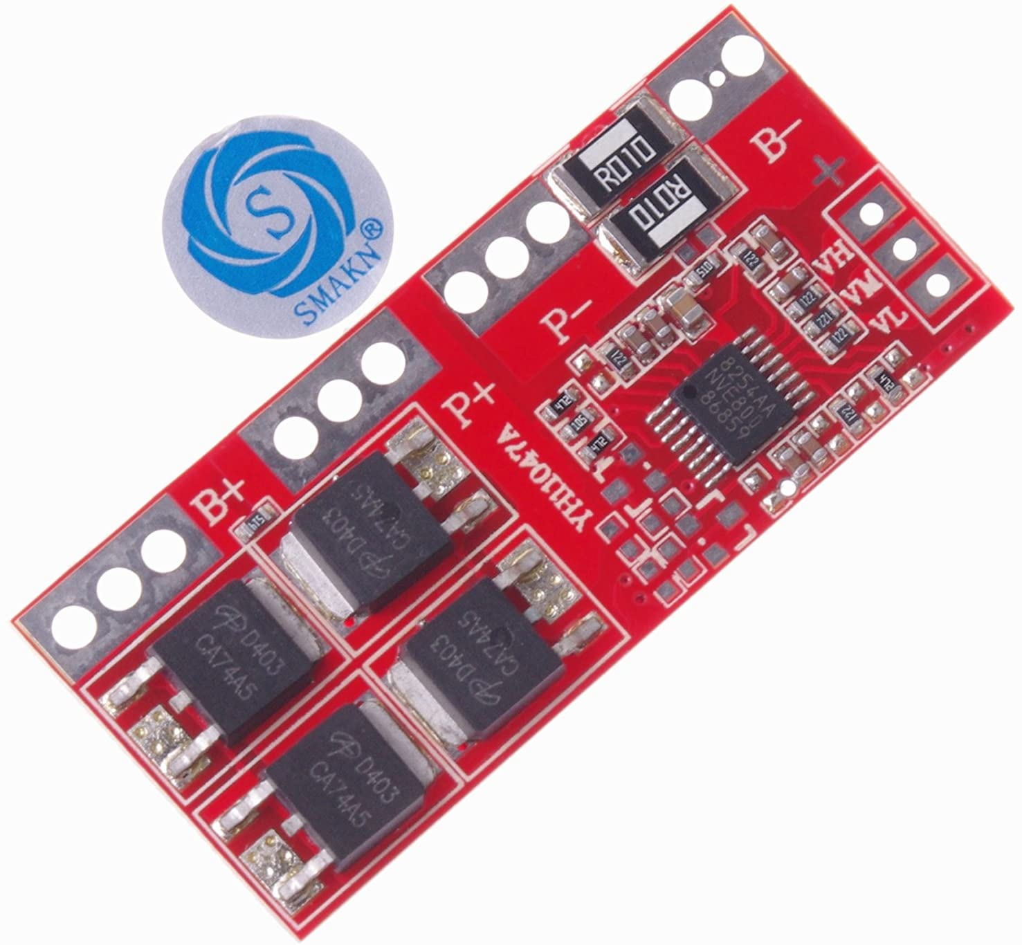 SMAKN 4S Li-ion Lithium Battery 18650 Charger Protection Board 14.4/14.8/16.8V 30A