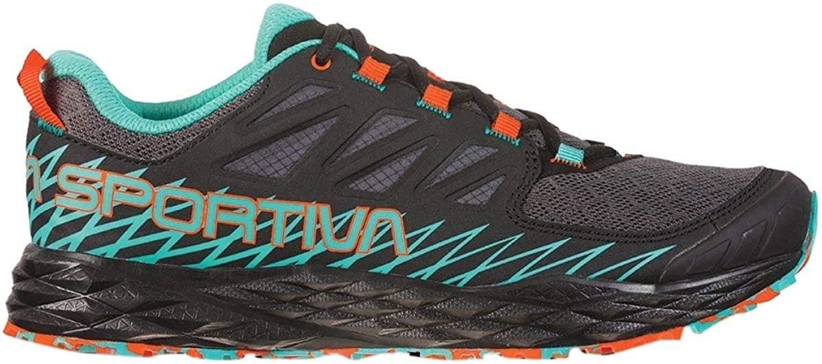 La Sportiva Lycan Womens Running Shoe, Black/Aqua, 40