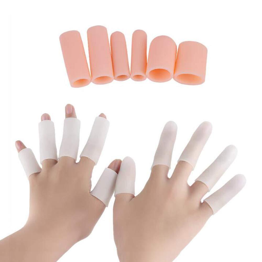 HAIHF Gel Finger Protector, 20 Pcs Finger Protector Support Finger Gloves, Finger Sleeves Great for Trigger Finger, Hand Eczema, Finger Cracking, Finger Arthritis Hallux Valgus Correctors