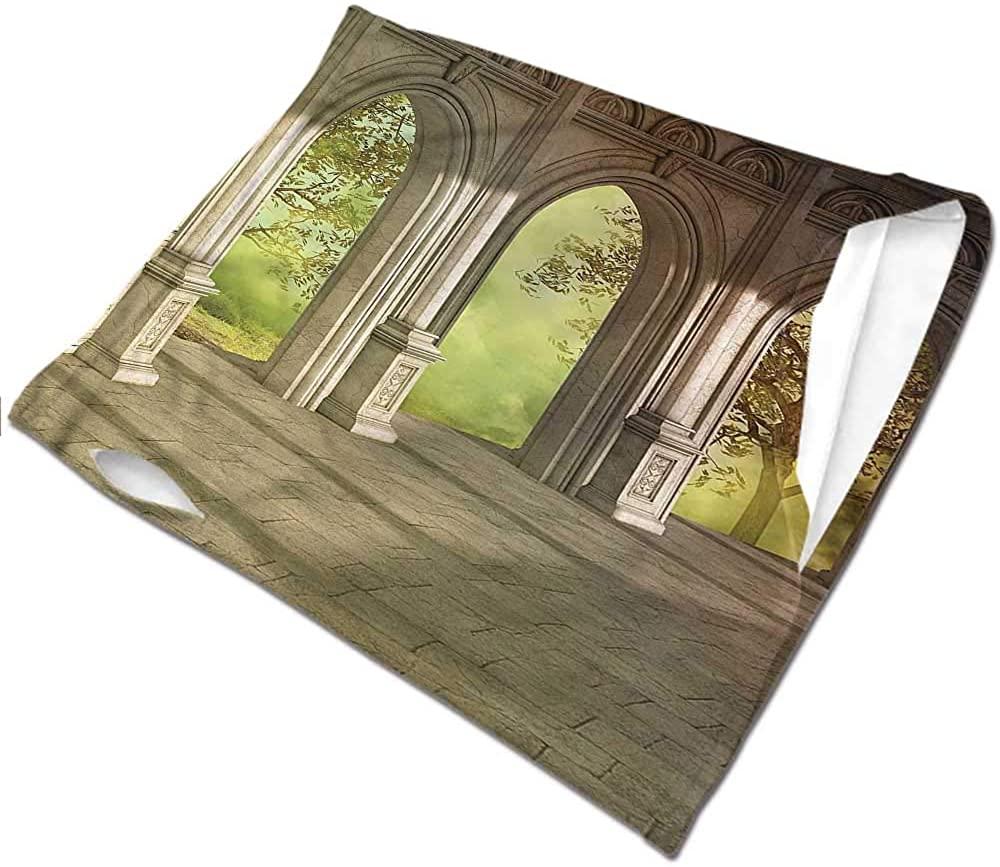 VIVIOTendance Neck Warmer Fantasy,Fantasy Landscape Forest Headband Neck Gaiter