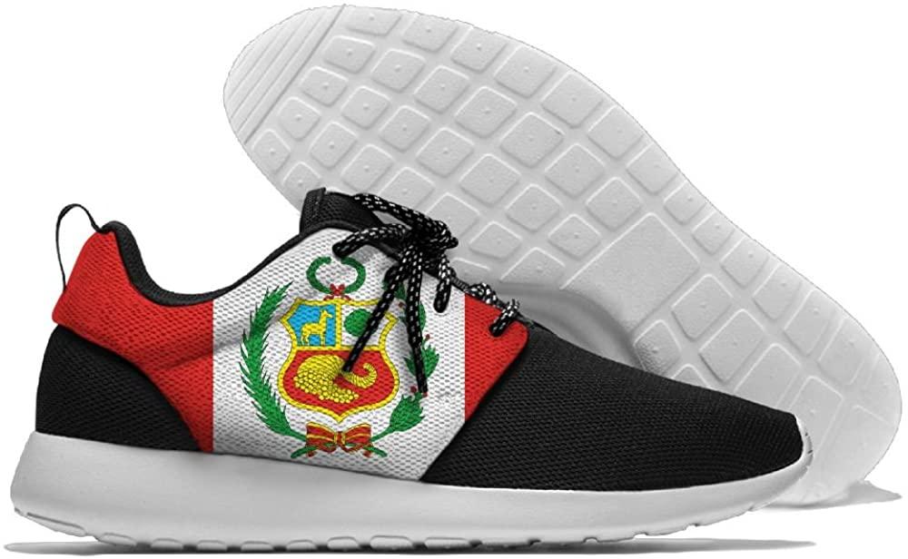 WANING MOON Peru Flag Men's Leisure Sport Shoes 3D Prints Shoes