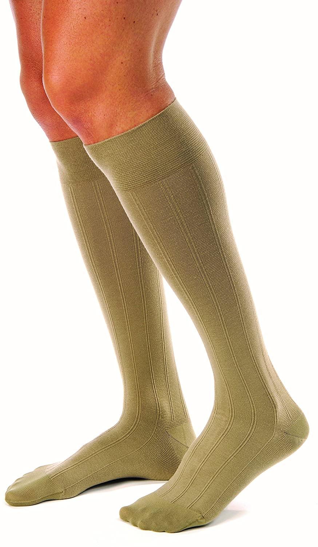 JOBST forMen Casual 20-30 mmHg Knee High Compression Socks, Khaki, X-Large