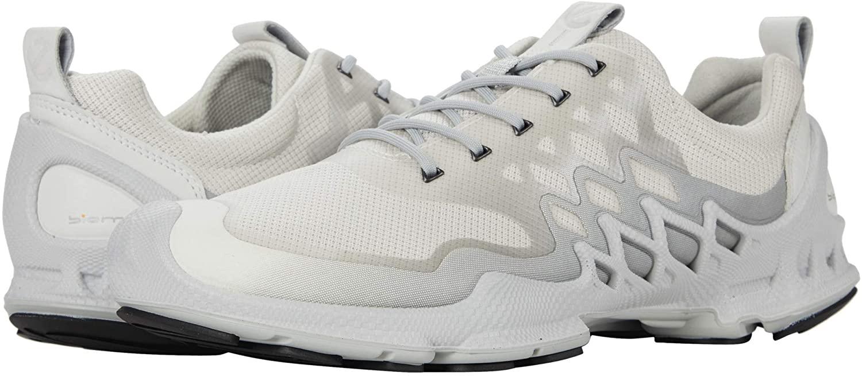 Ecco Outdoor Men's Biom AEX Trainer Sneaker, White/Buffed Silver Textile
