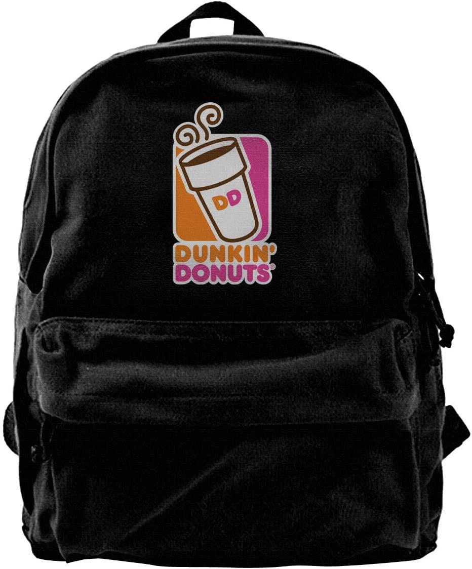 Dunkin-Donuts Casual Backpacks Print Canvas Daypacks Travel College Rucksack Backpack