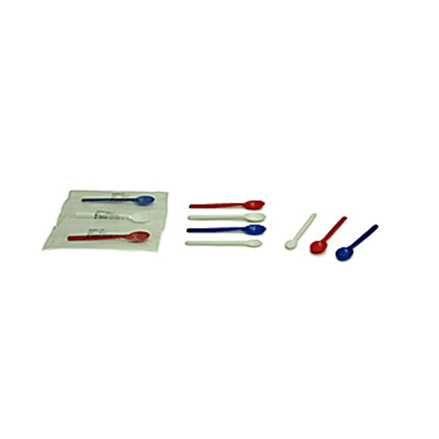 Sampling Systems 8088A-03 SteriWare Disposable Sample Spoon, Non-Sterile, Individually Bagged, 173 mm Length, 3 ml, White (Pack of 100)