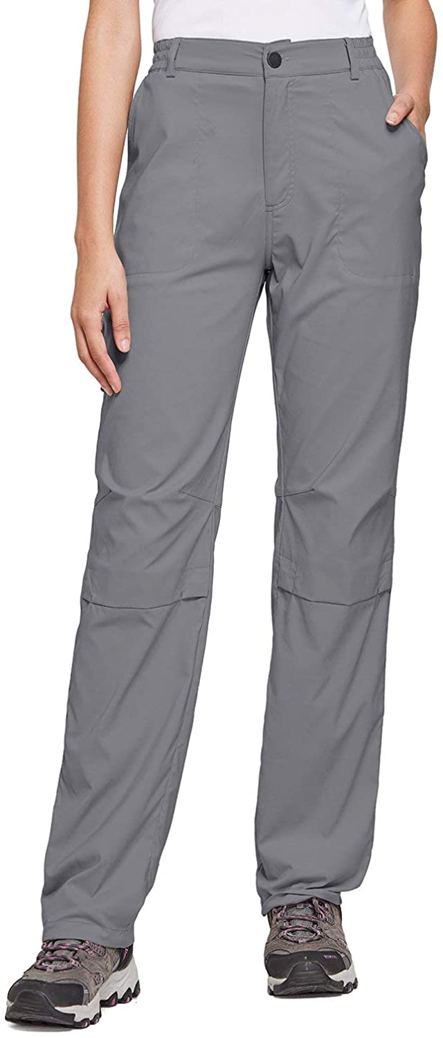 BALEAF Women's Lightweight Hiking Pants Convertible Roll Up UPF 50 Stretch Outdoor Capri Pants Water Resistant
