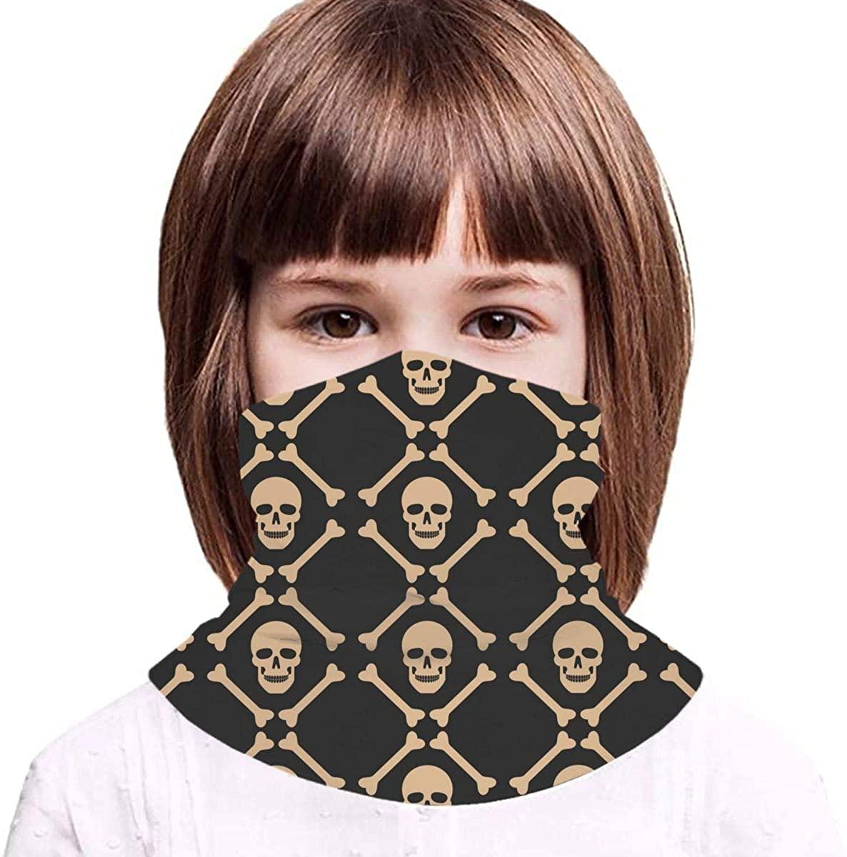 Skull Dark Pattern Neck Gaiter Balaclava Bandana Headwear Cooling Scarf Variety Face Towel
