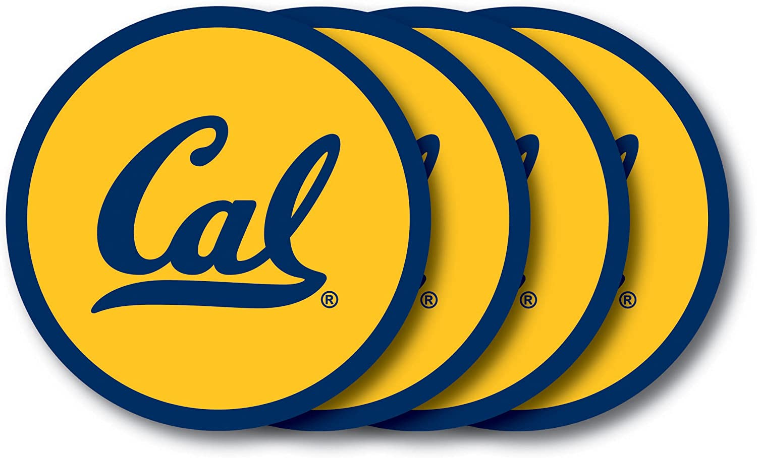 NCAA California - Berkeley Golden Bears Vinyl Coaster Set (Pack of 4)