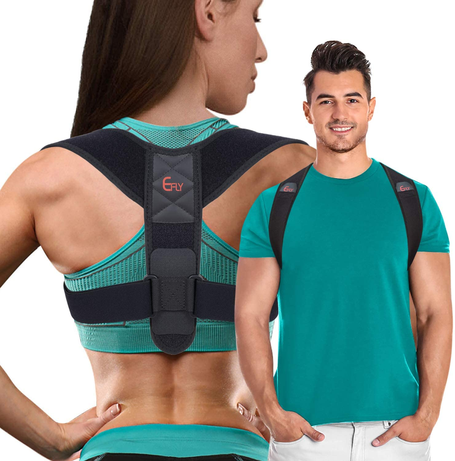 (2020 New) Posture Corrector for Women Men - Posture Brace Adjustable Back Straightener, Comfortable Upper Clavicle Support Device for Thoracic Kyphosis and Back Pain Relief (L(40-50))
