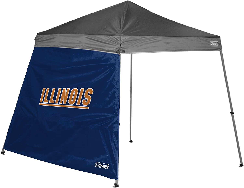 NCAA Illinois 10 x 10 Slant Leg Canopy Wall
